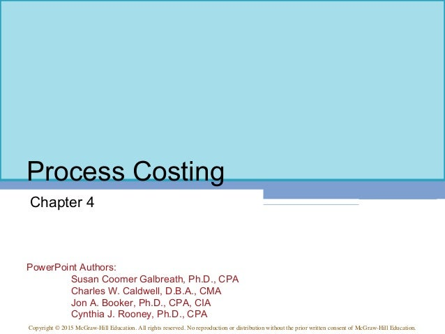 Managerial Accounting 15th ed Chapter 4A
