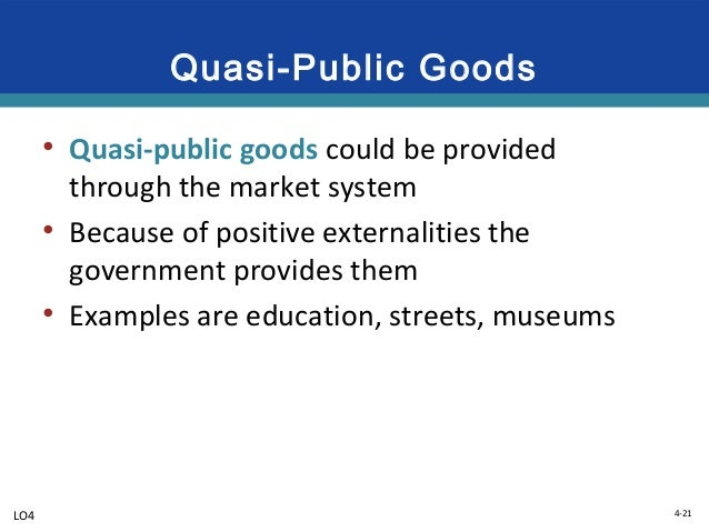 Public Goods and Externalities