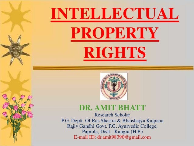 essay on intellectual property rights in india