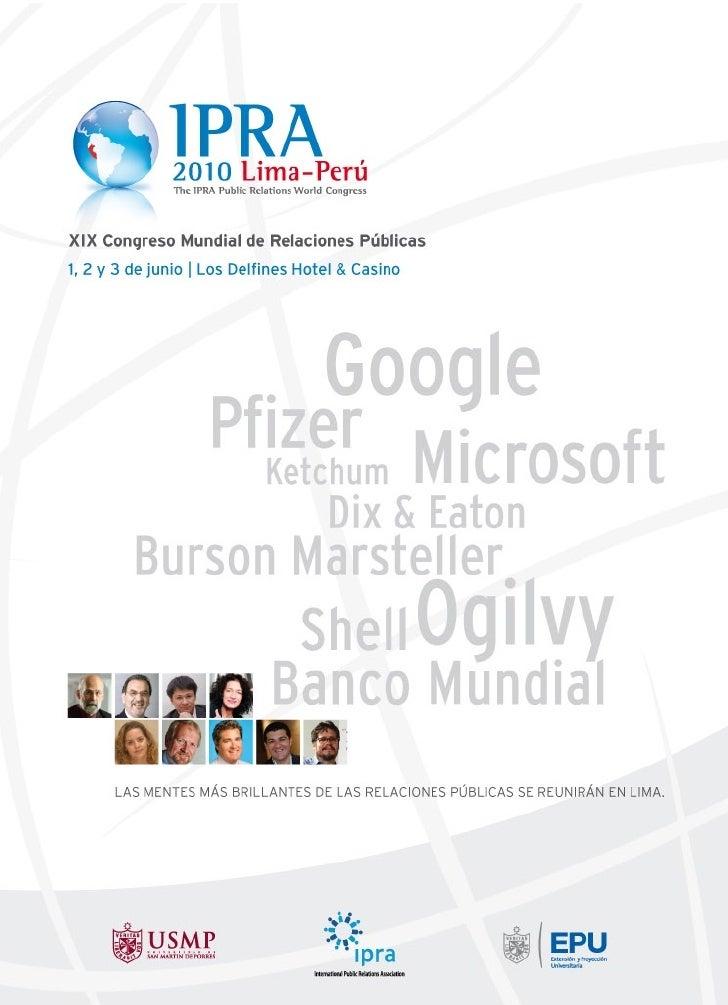 IPRA 2010 Brochure Académico