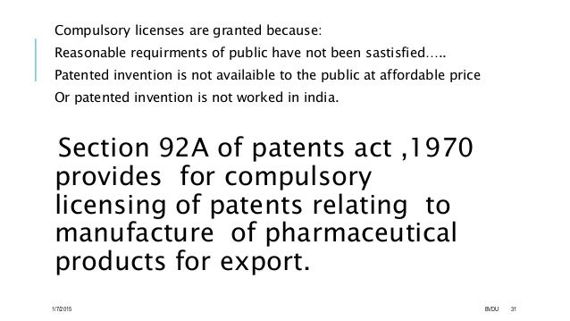 Compulsory License Case Study: An Introduction to Competing Patent Perspectives