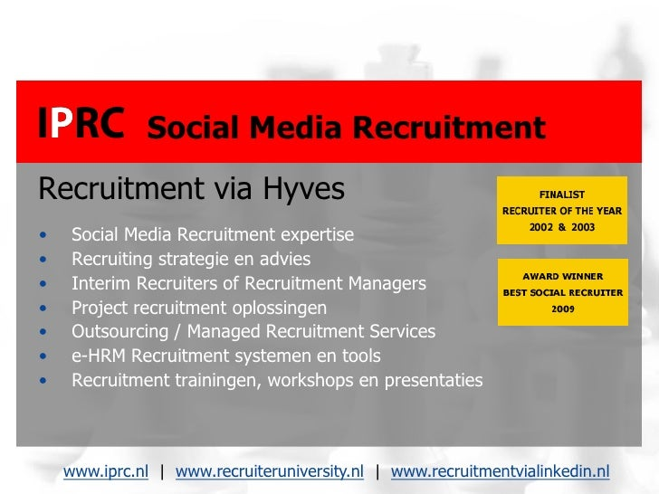 Recruit2 - Recruitment via Hyves