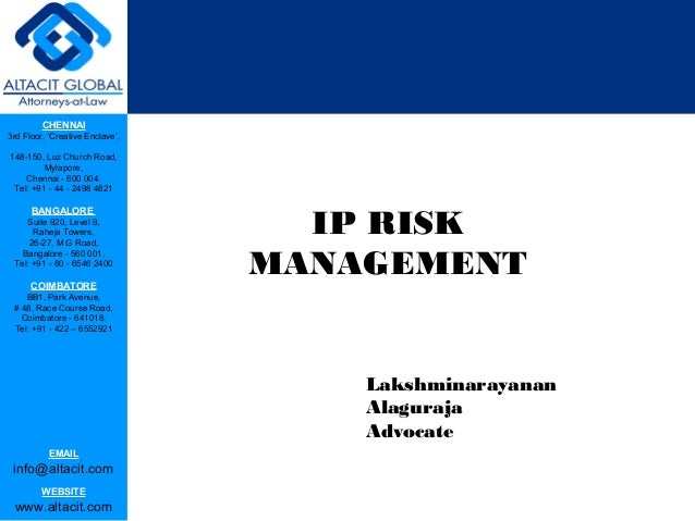 Ip risk management