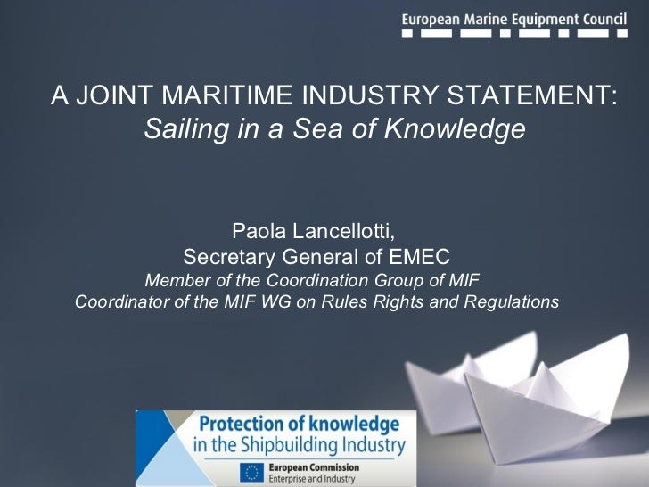 Ipr maritime industry statement   final
