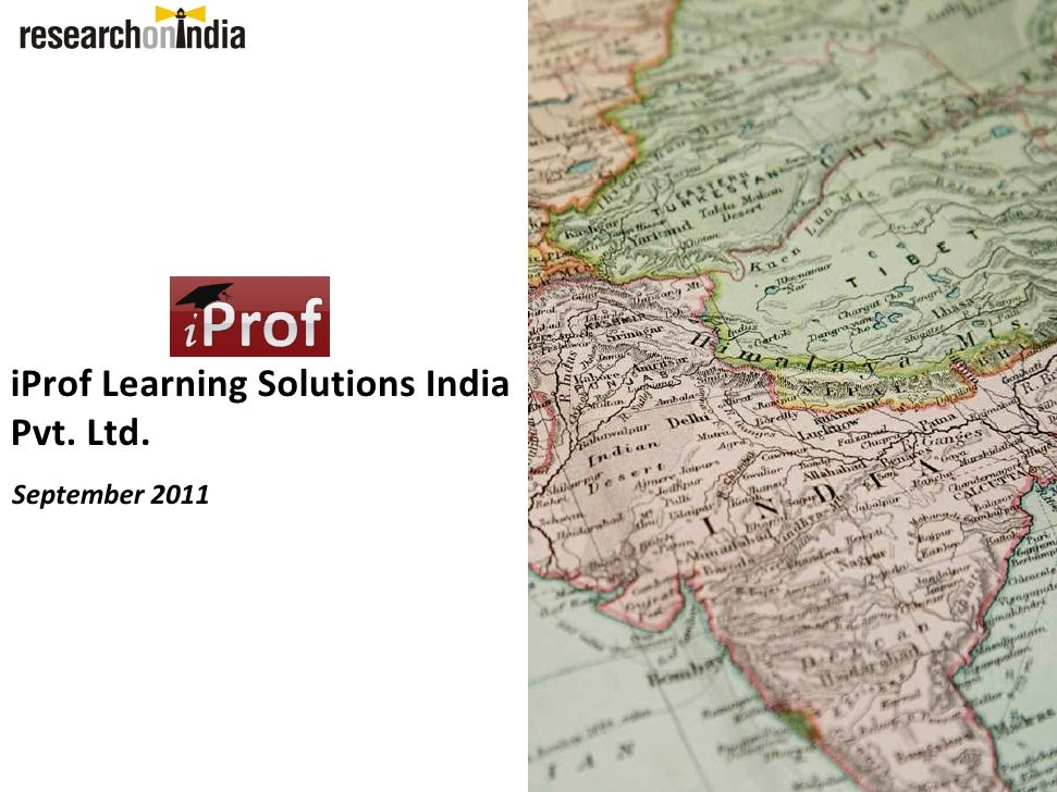 iProf Learning Solutions IndiaPvt. Ltd.September 2011