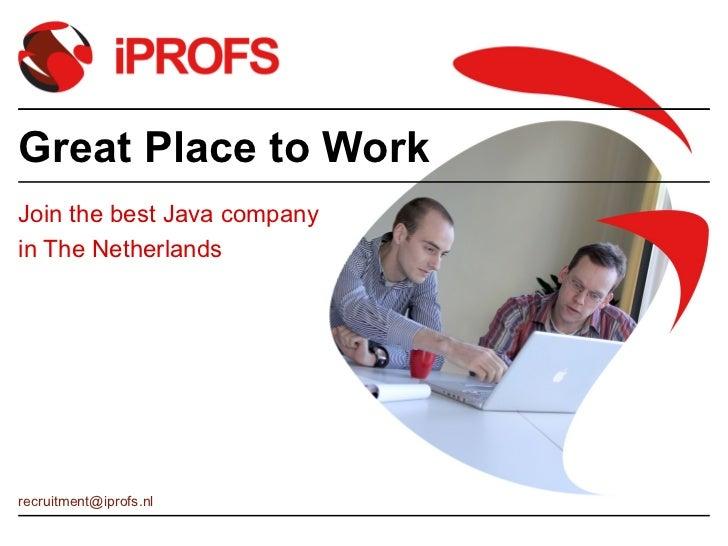 iPROFS presentation 2012