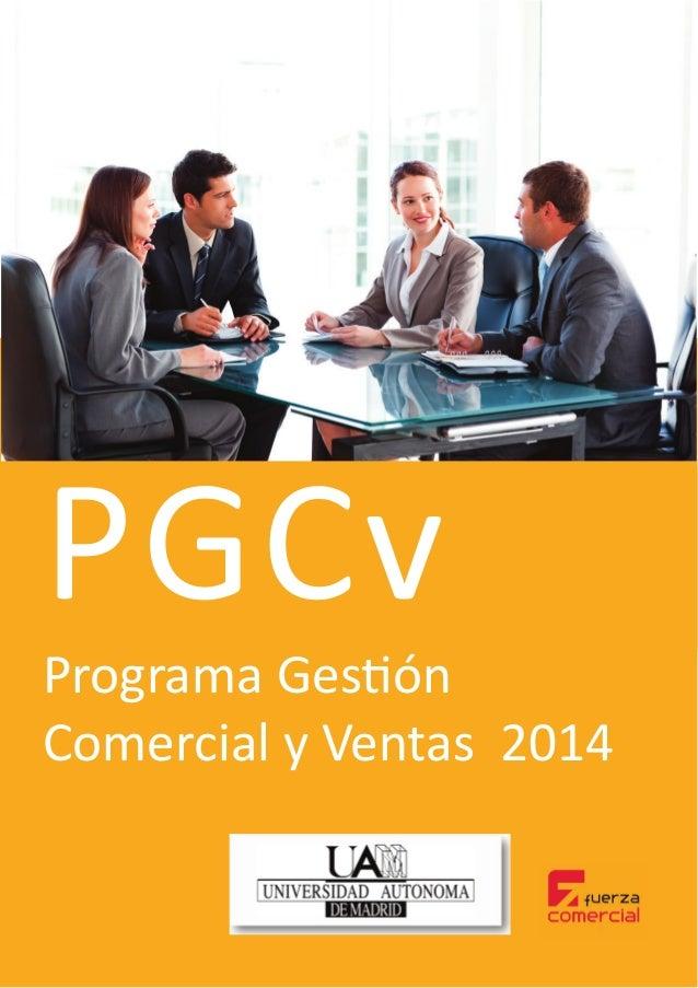 Programa Gestión Comercial y Ventas 2014 PGCv