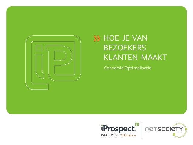 Conversie optimalisatie -  Christiaan van der Waal