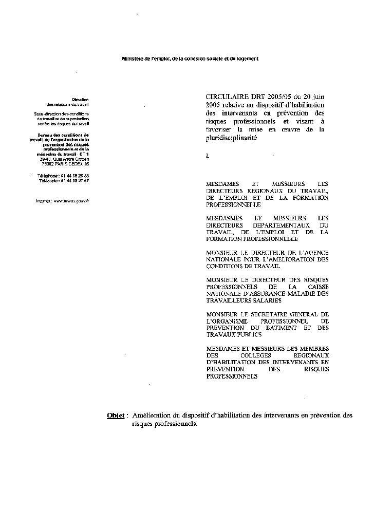 Iprp habilitation-circulaire-drt-2005-05-20-juin-2005