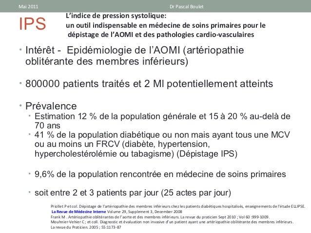 Mai 2011                                                                        Dr Pascal Boulet                   L'indic...