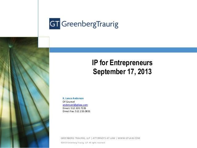 IP for Entrepreneurs