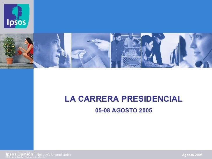 Ipsos Carrera Presidencial 28ag08