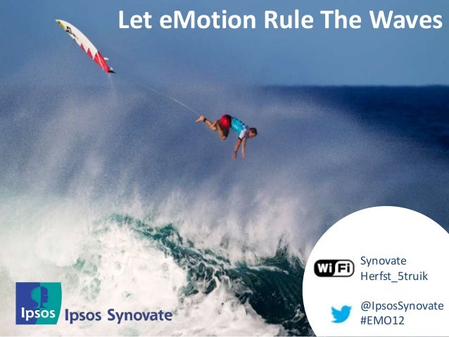 Let eMotions rule the waves