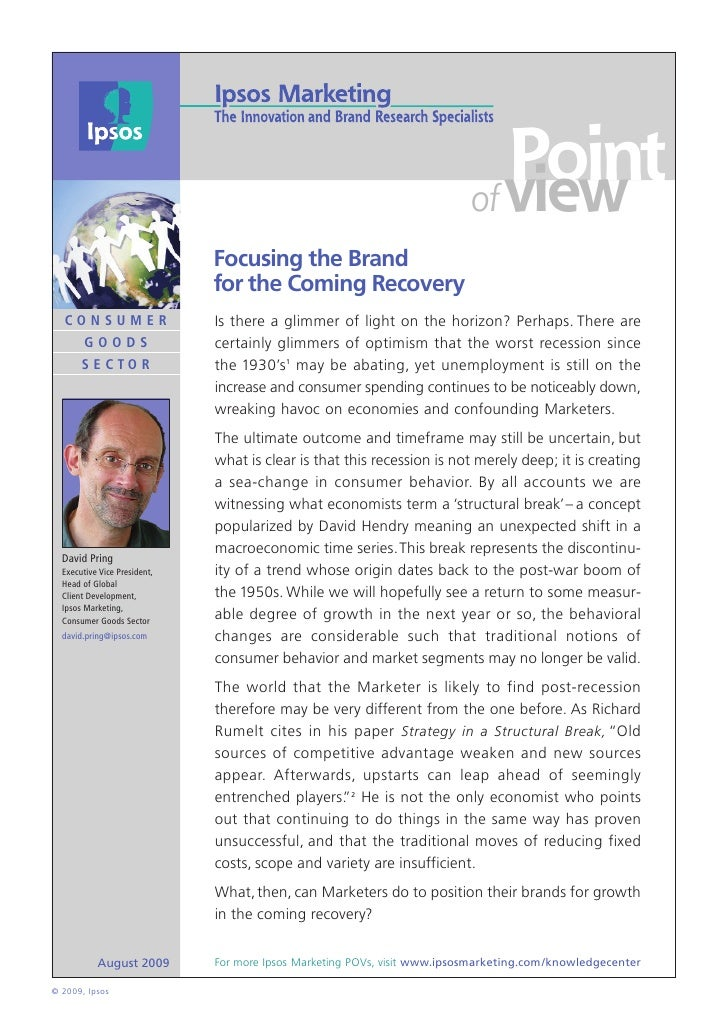 Focusing the Brand for the Coming Recovery