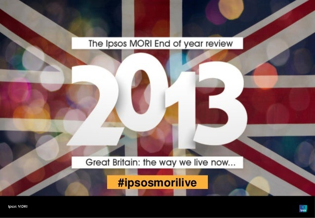 Ipsos MORI: Great Britain: the way we live now