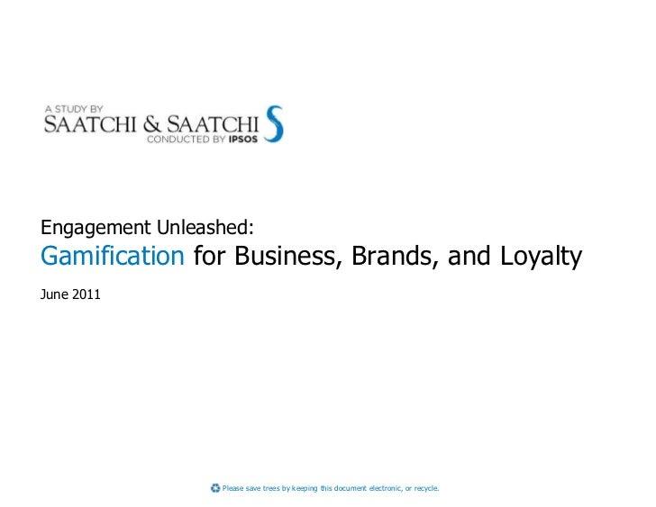 Saatchi S Gamification Study