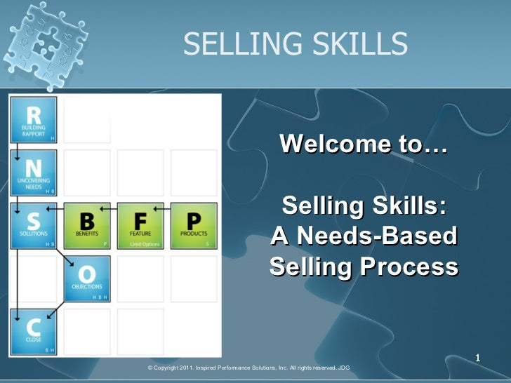 IPS Selling Skills Presentation Slideshow
