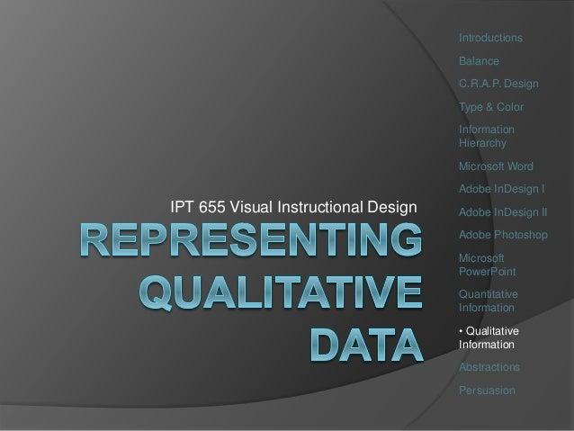 Ipt655 Wk11 Qualitative