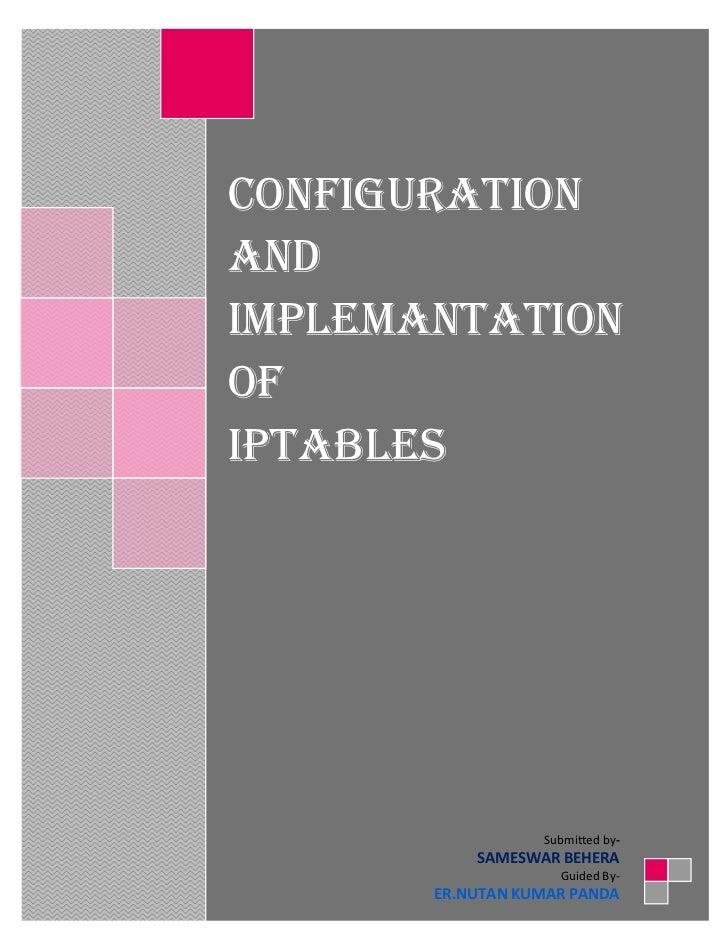 Iptables Configuration