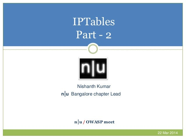 IP Tables Getting Started - Part 2