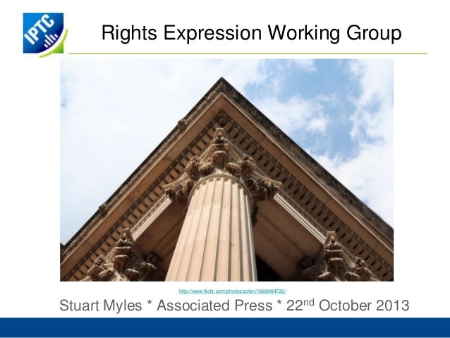 IPTC Rights Expression Working Group Autumn 2013