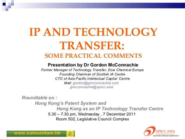 IP & Tech-transfer (7 Dec 2011)