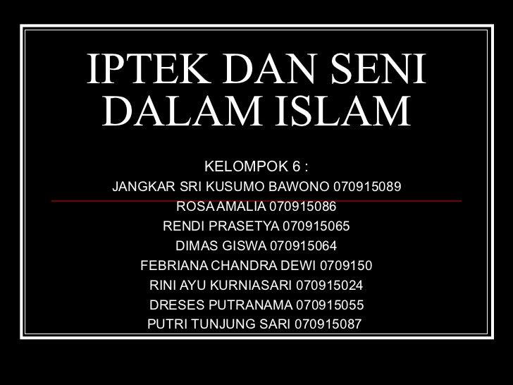 Iptek Dan Seni Dalam Islam 03