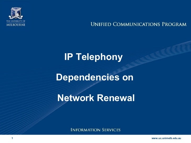 Iptel Network Dependencies
