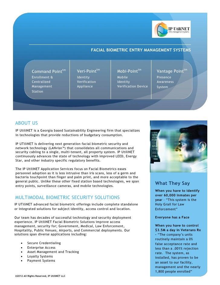 IP UtiliNET ©Fusitronics Facial Biometric Systems Application Brief