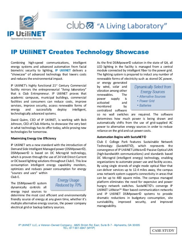 IP UtiliNET Creates Technology Showcase Combining high-speed communications, intelligent energy systems and advanced autom...