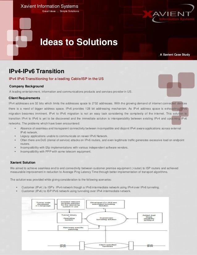 IPv4-IPv6 Transition - Case Study