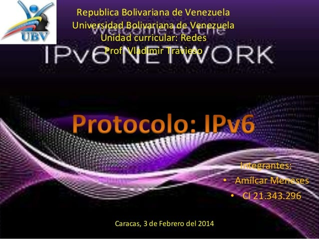 Protocolo de Internet (IPv6) -Redes