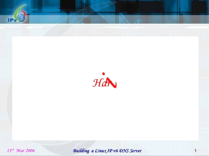 Building a Linux IPv6 DNS Server Project review PPT v3.0 First review