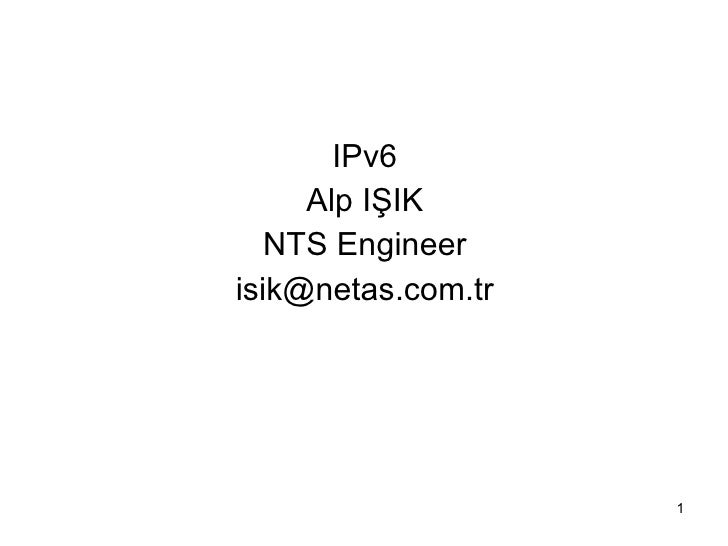 Ipv6 Alp