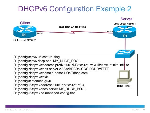 Ipv6 dhcp for Cisco show pool dhcp