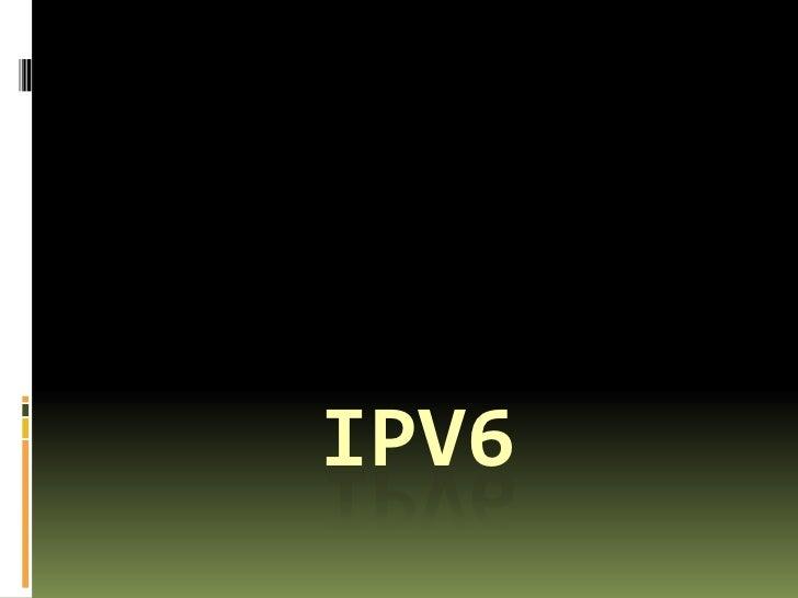 I Pv6 Final 2