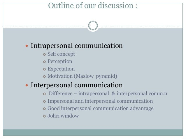 interpersonal communication perception essay Perception is a fundamental process in all interpersonal communication encounters this essay will describe perception and the role it has in perception acts as a filter via which information passes before it impacts on ones communication an individuals background, life experience, values and.