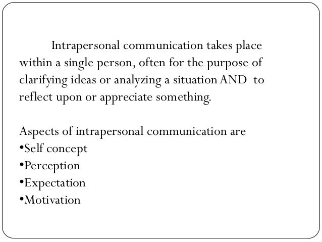 intra and inter personal relationship