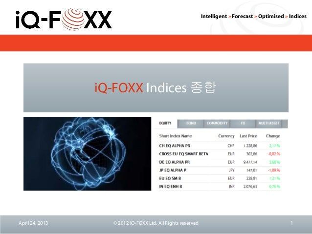 iQ-FOXX Indices Overview (Korean)