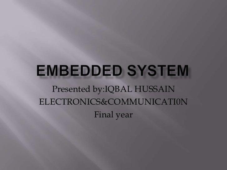 Iqbal embedded system