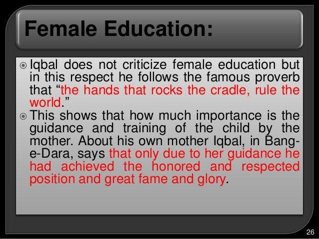 essay on importance of female education