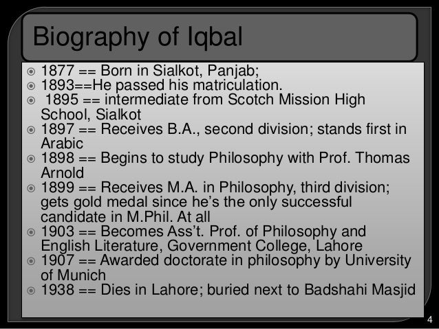 Short biography of allama iqbal