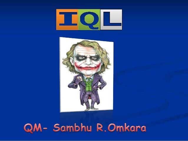 lnter-Collegiate Quizzing League(IQL) Prelims+Finals conducted by Sambhu R.Omkara in Mar Thoma College,Thiruvalla,Kerala on Nov 15,2013.