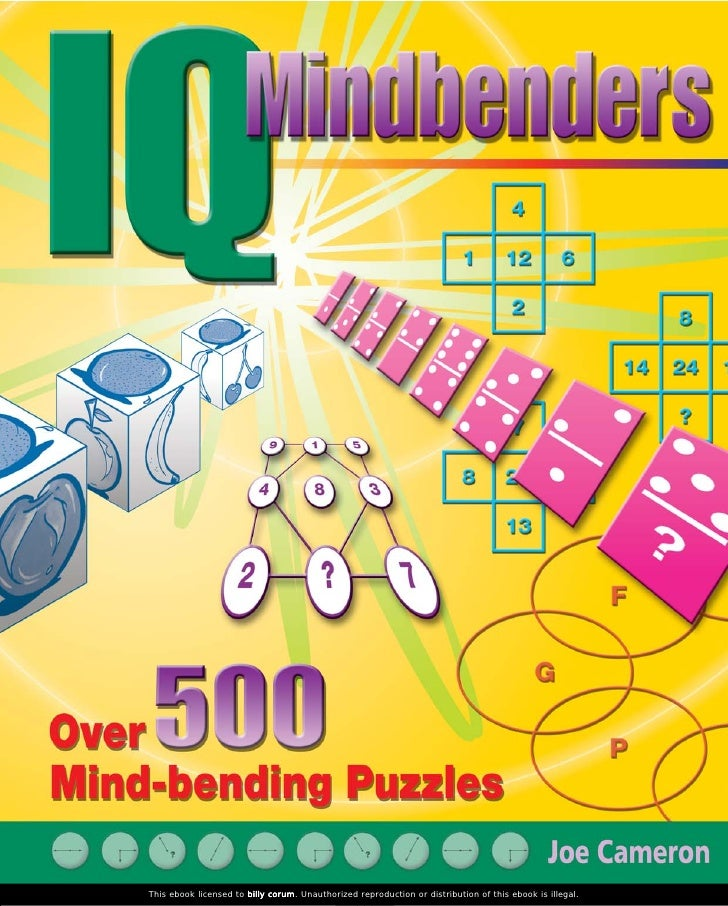 Iq mindbenders   over 500 mind-bending puzzles