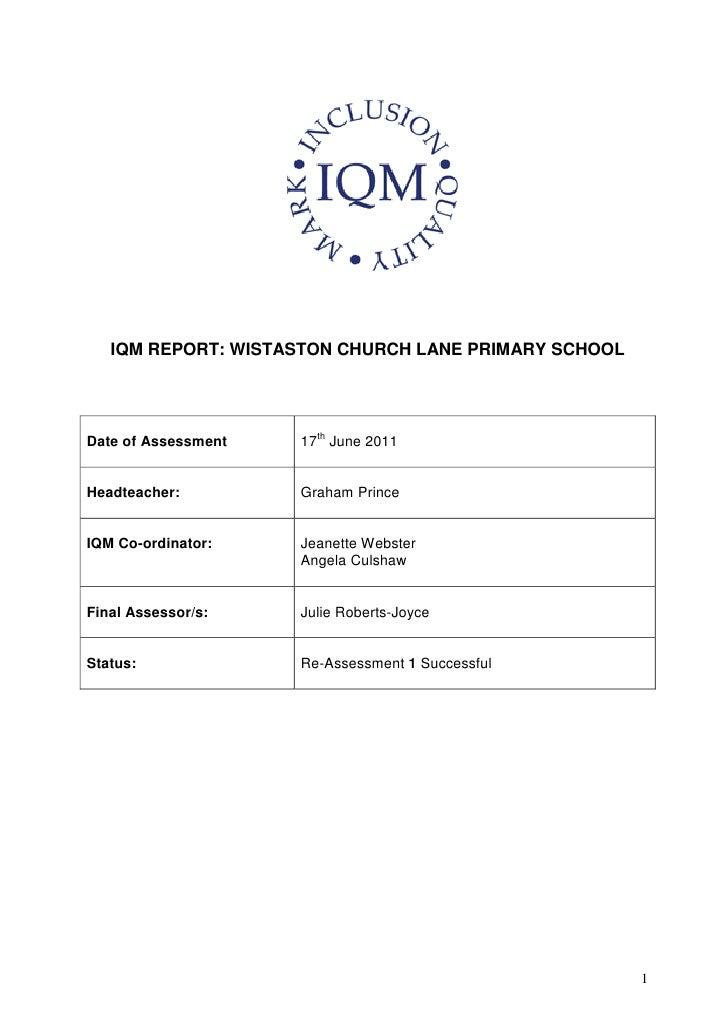 IQM report 2011