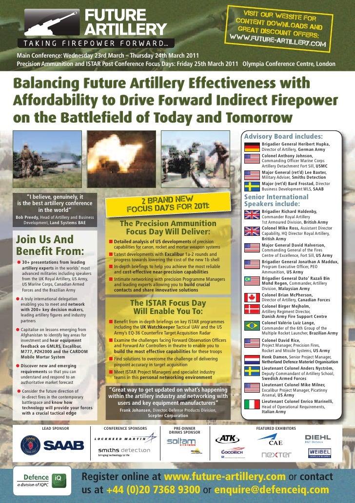 IQPC Future Artillery 2011 Brochure