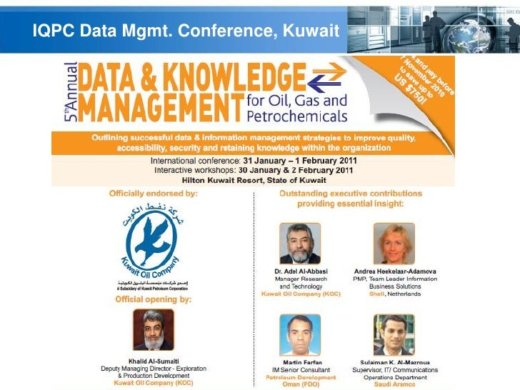 IQPC Data Mgmt. Conference, Kuwait                                     YOUR LOGO