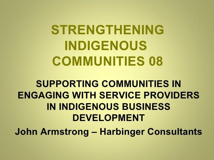 Indigenous Business Development :: JM John Armstrong