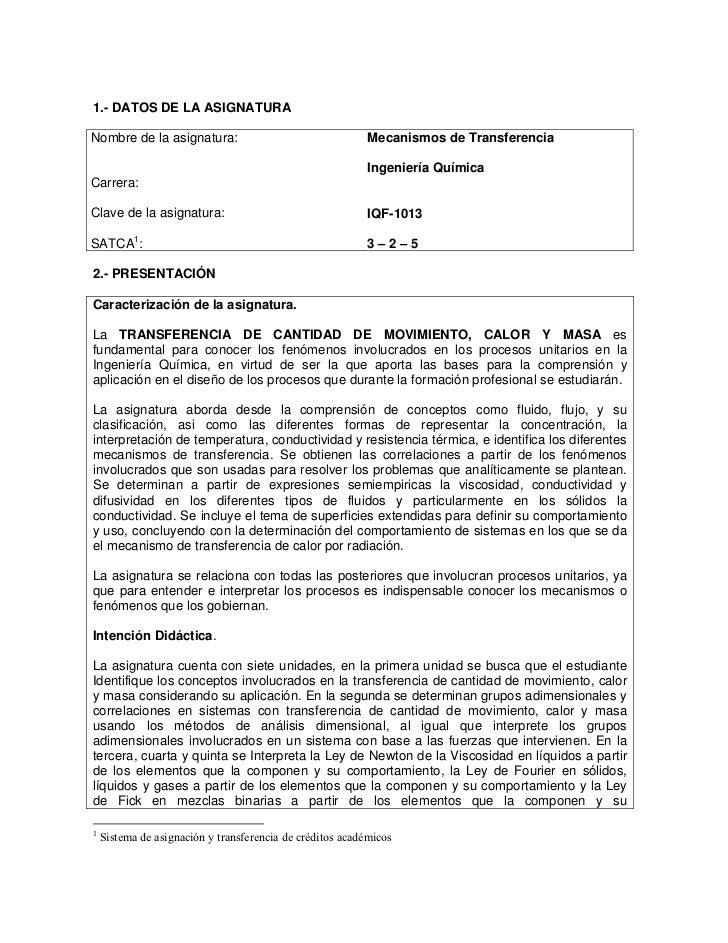 Programa mecanismos de transferencia