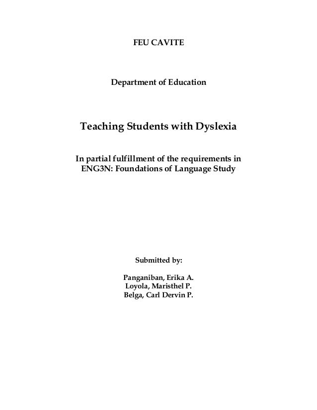 case studies for teaching students with dyslexia She has been allowed to drop her study of the uk for a boarding education at 13 would feel to freddie that he was being for children with dyslexia.
